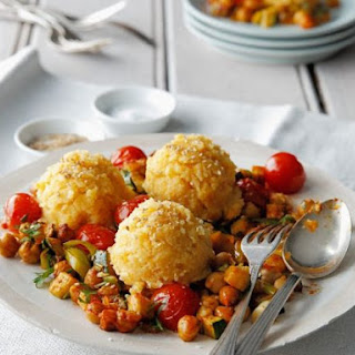Cornmeal Dumplings with Garbanzos