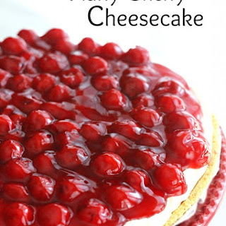 No Bake Fluffy Cherry Cheesecake