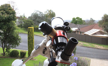 Photo: My new Lunt 60mm solar telescope, complete with grey skies.