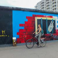 Davanti al muro di Berlino di