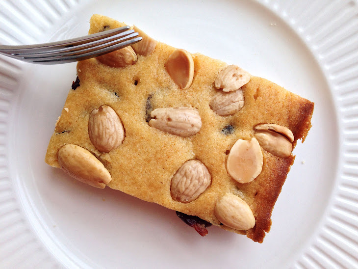 Cherry-Honey Blondies with Marcona Almonds Recipe