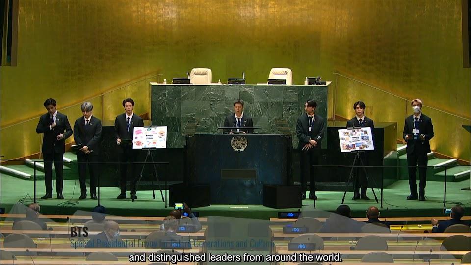 210920 BTS UN Speech - Korean Audio_English Subs 0-41 screenshot