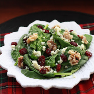 Cranberry Blue Cheese Walnut Salad.