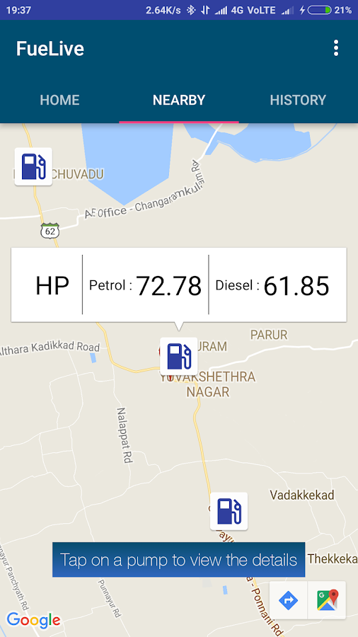 Fuel Live | Daily Petrol Diesel Prices for India- screenshot