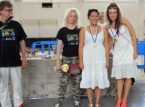 Photo: Top 3 female players Ikaros 2014 (from left): G. Grapsa, S. Maroroa, M. Urosevic