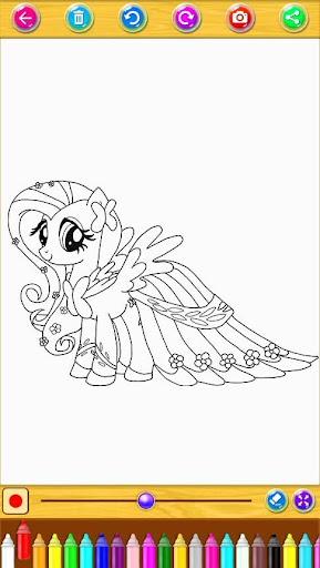 Coloring Book Little Pony screenshot 1