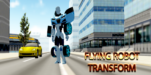 Flying Robot Transform Attack Robot Shooting Games 4