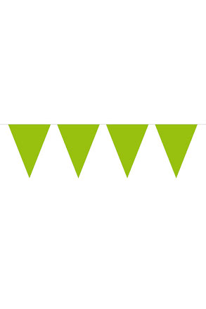 Flaggirlang, 10 m grön