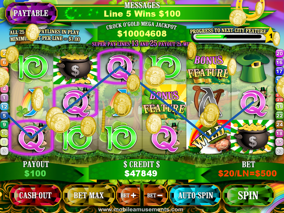 Crock O'Gold Rainbow Slots- screenshot
