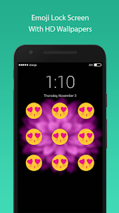 lock screen : emoji keyboard HD wallpaper - náhled