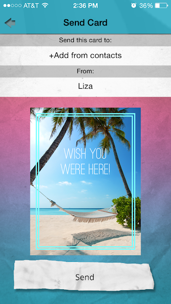 Create your SweetGreets message, personalize with photos and video, choose your colors, then select your recipients