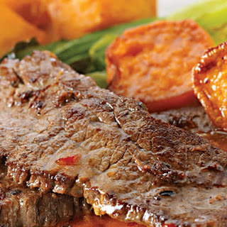 Ginger Scotch Beef with Sweet Potato Salad