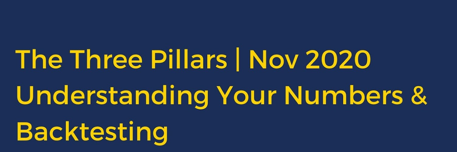 The Three Pillars: Understanding Your Numbers & Backtesting
