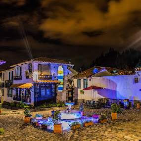 Charming Fountain by Andrius La Rotta Esquivel - City,  Street & Park  Fountains ( charming, night photography, magical, fountain, beautiful )