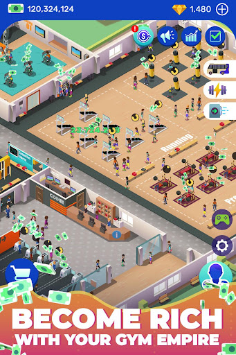 Idle Fitness Gym Tycoon - Workout Simulator Game 1.1.0 screenshots 2
