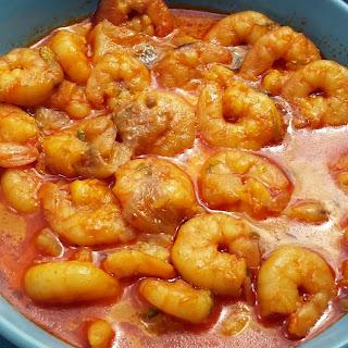 Garlic Curry Prawns Recipes.