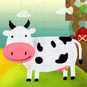 Kids Jigsaw Puzzles: Farm Animals & Vehicles
