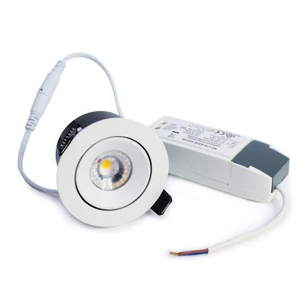 Xerolight AIR LED Downlight 7W VIT Inkl. Driver