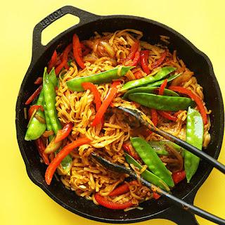 Vegan Singapore Noodles.