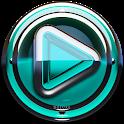 Poweramp skin Turquoise Glas icon