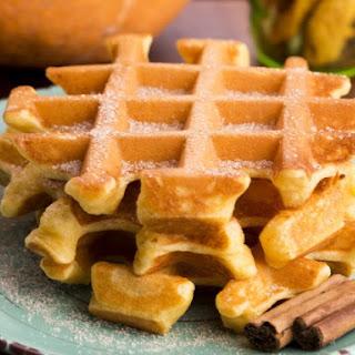 Pumpkin-Pecan Belgian Waffles