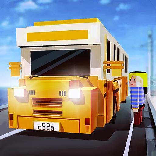 Blocky Bus SIM: Tourist Drive