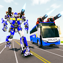 Bus Robot Car Transform War –Police Robot games icon