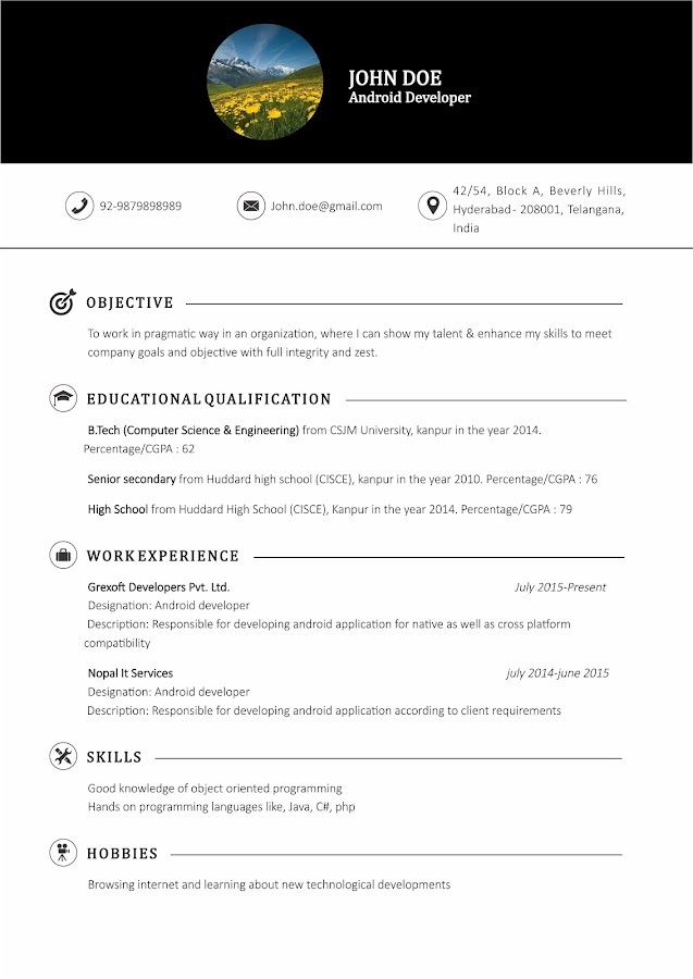 resume maker pro android apps on google play