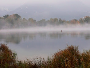 Photo: La nebbia avvolge il Lago di prima mattina