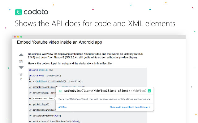 Codota - Java Code Viewer Developer Tool