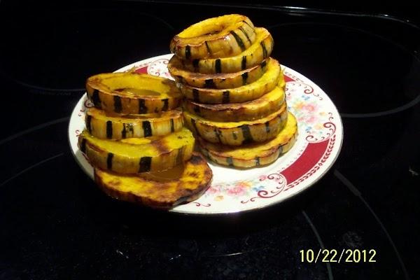 Delicata  Baked Squash Rings Recipe