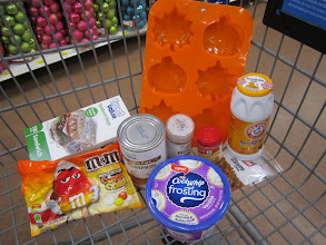 Photo: Our cart on the way out of Walmart to bake the Pumpkin Pie Cupcakes with Cool Whip Frosting.