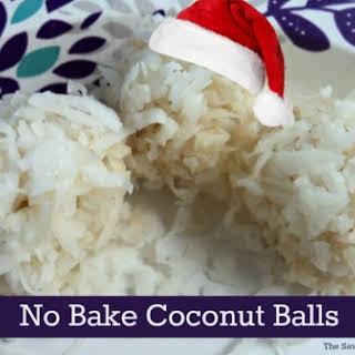 No Bake Christmas Coconut Balls.