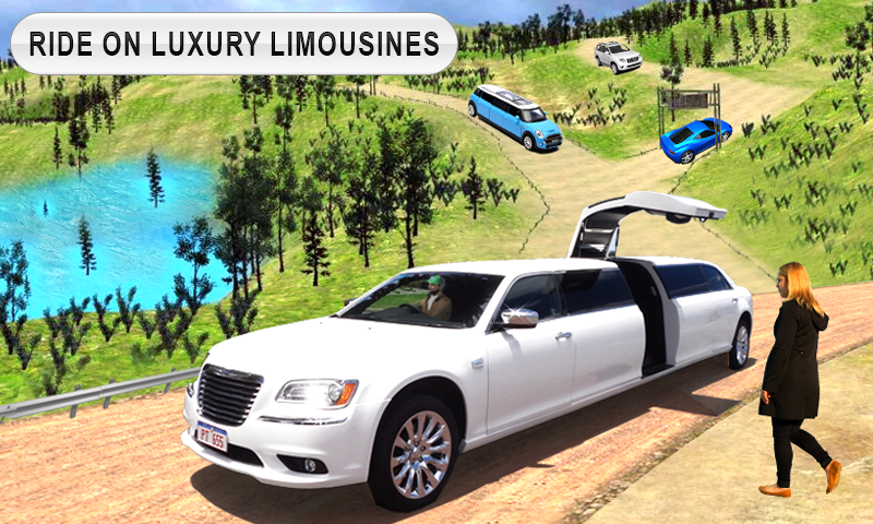Limousine Taxi Driving Game- screenshot