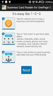 Free Business Card Reader for OnePage CRM- screenshot thumbnail