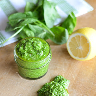 Spinach Basil Pesto Sauce