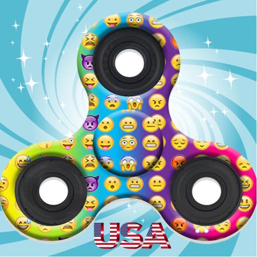 Emoji Fidget Spinner Wallpaper Usa HD