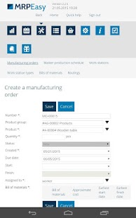 MRPEasy manufacturing software- screenshot thumbnail