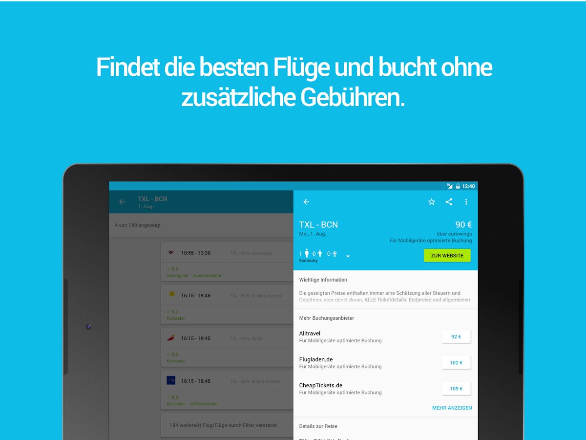 Skyscanner – Screenshot