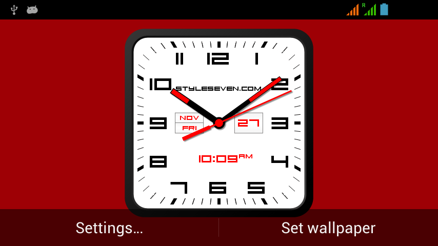 android Square Clock Android-7 PRO Screenshot 4