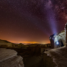 Dreams Come True by Haim Rosenfeld - Landscapes Starscapes ( dreamy, constellation, mystery, silhouette, stone, rock, travel, long, contemplate, shot, milky way, unreal, time, sky, night photography, nature, spiritual, dark, havary, place, surreal, light, darkness, climate, black, foreground, orange, dream, texture, colors, soul, mood, horizon, shape, universe, astronomy, picture, stars, scene, moody, lines, view, starry, galaxy, exposure, light beam, colorful, land, way, stargazer, beauty, landscape, israel, space, dreamer, masada, dreamlike, long exposure, rock formation, men, east, nikon, rocks, lonely, desert, dry, purple, dead sea, beautiful, star, scenic, nightscape, red, great, mount, blue, outdoor, brown, beam, night, scenery, milky, stunning )