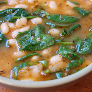 Garlicky White Bean Soup with Dark Greens -10-12 servings