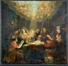 Photo: Dit schilderij is afkomstig uit 1812, schilder J.P. Horstok, title van het schilderij is: De aanbidding door de herders.  Painting from 1812, painted by J.P. Horstok, title of the painting:worshipping shepards.