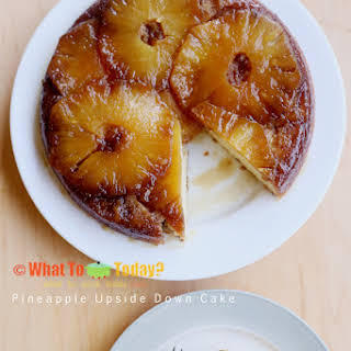 PINEAPPLE UPSIDE-DOWN CAKE (9-inch cake).
