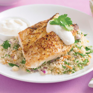 Moroccan Fish with Couscous.