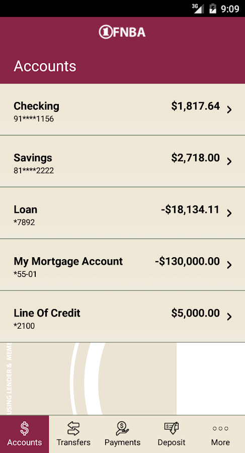 FNBA Mobile Banking- screenshot