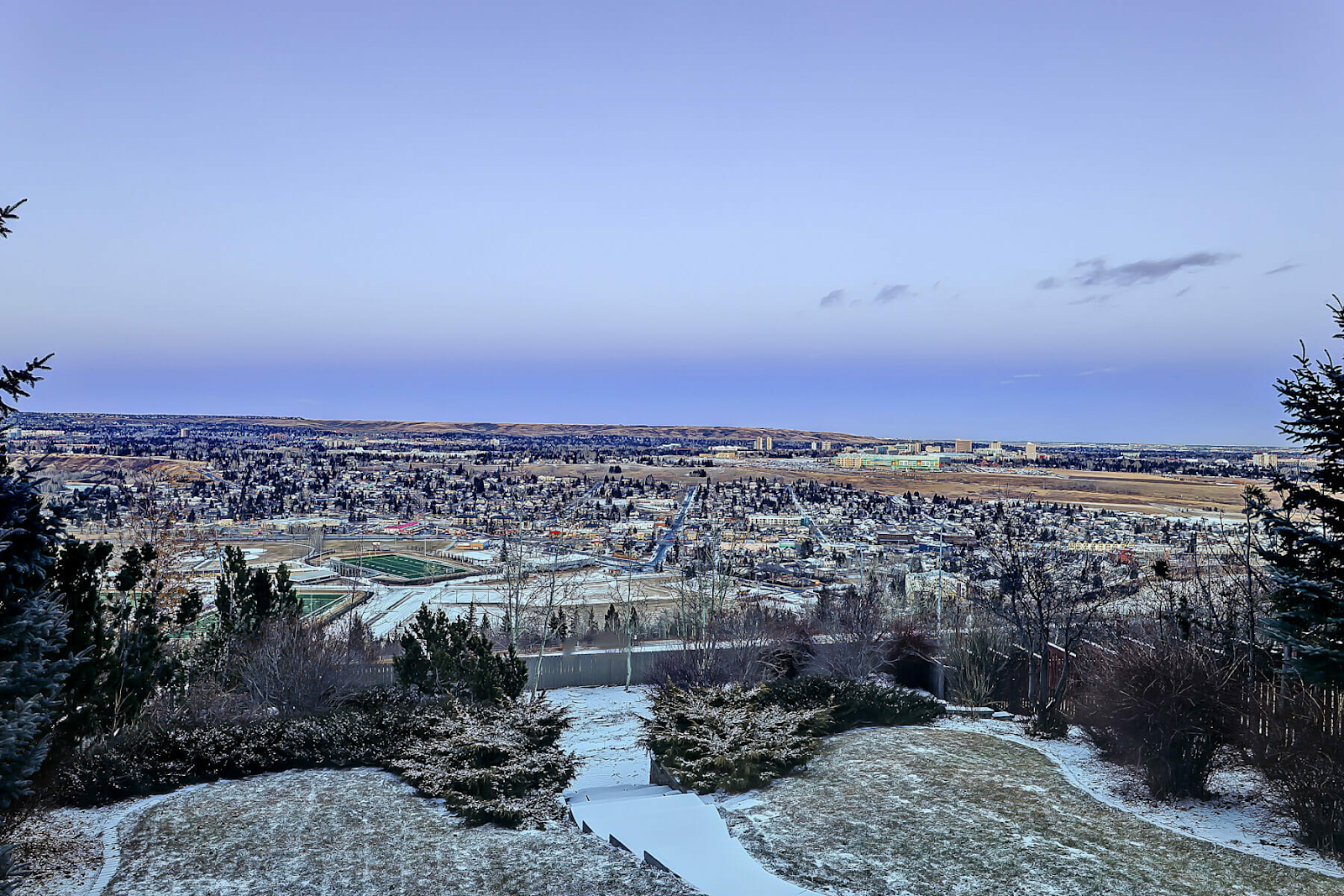 vista view of nw calgary foothills