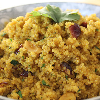 Quinoa Pilaf with Cranberry and Cashew.
