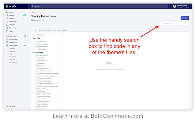 Shopify Theme Search by Bold