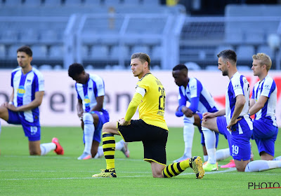📷 Le geste des joueurs de Dortmund et de Berlin pour rendre hommage à George Floyd